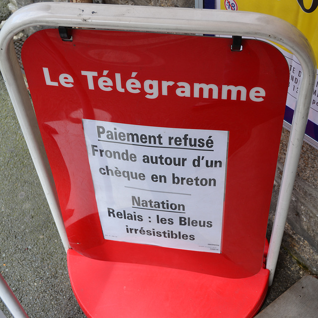 Dinan 2014 – Check in Breton not accepted