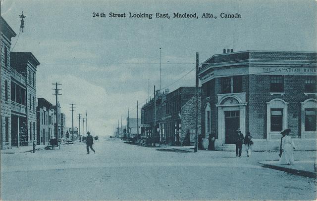 24th Street Looking East, Macleod, Alta., Canada