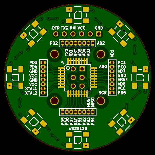WS2812B test board