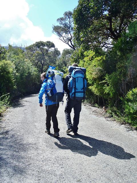 Claire & Hugues set off