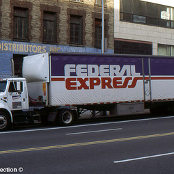 fed ex ih 8100 curtainside van ny ny 11'94