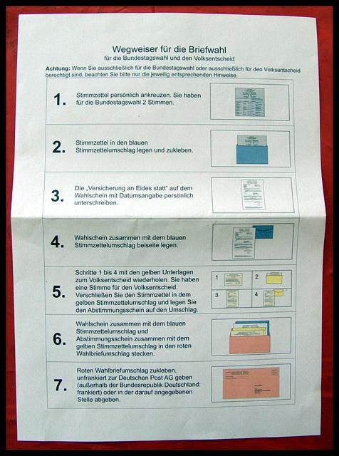 Bundestagswahl 2013 und Volksentscheid Netze in Hamburg Mitte