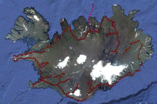GPS Map - Iceland 2010