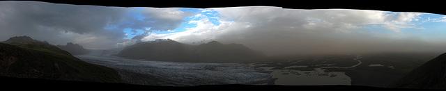 Skaftafellsjökull Panorama - Uncropped