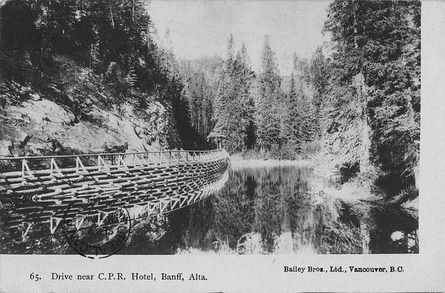 Drive near C.P.R. Hotel, Banff, Alta.