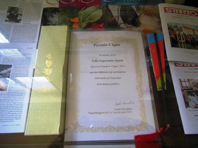 Premio de la Fondaĵo CIGNO por 2013 por Ĉeĥa Esperanto-Asocio