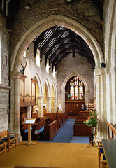 Nave of Hathersage Church, Derbyshire From the Chancel