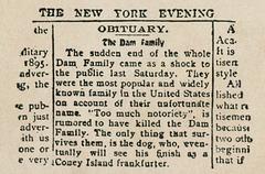 The Last of the Whole Dam Family (Obituary)