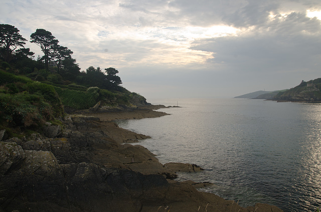 Entrance to Fowey Harbour from Polruan Blockhouse