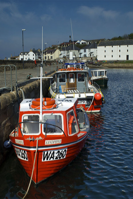 Red Boats, Portmahomack, Easter Ross, Scottish Highlands