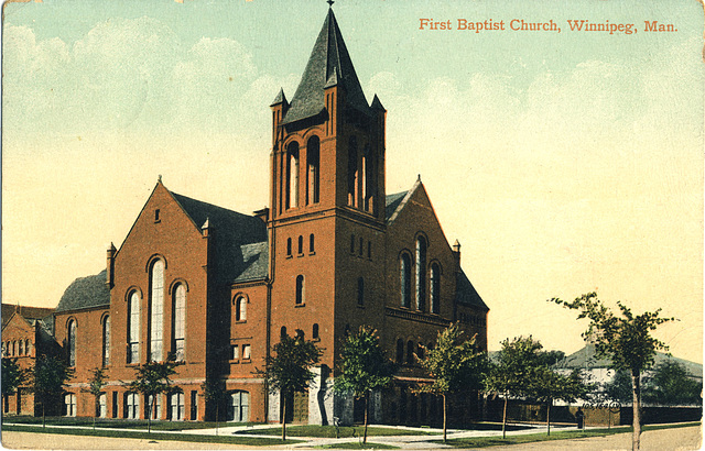 First Baptist Church, Winnipeg, Man.
