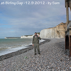 Grandad at Birling Gap by Sam aged 4 - 12.9.2012