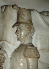 Detail of Peninsular War Memorial, Lichfield Cathedral, Staffordshire