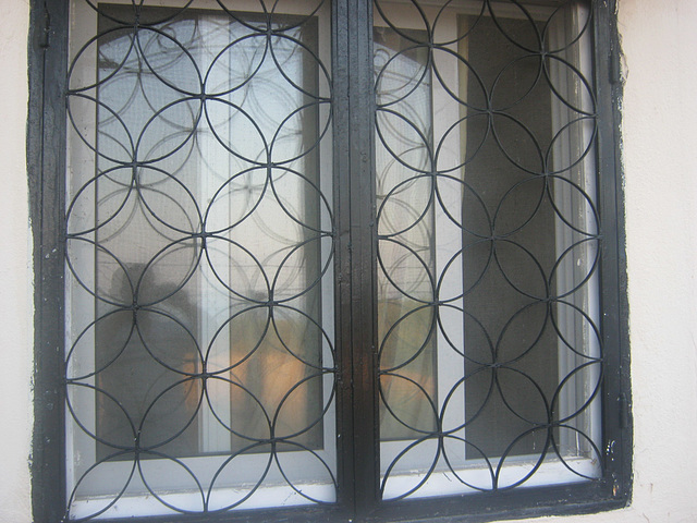 metalic mesh window as antenna !