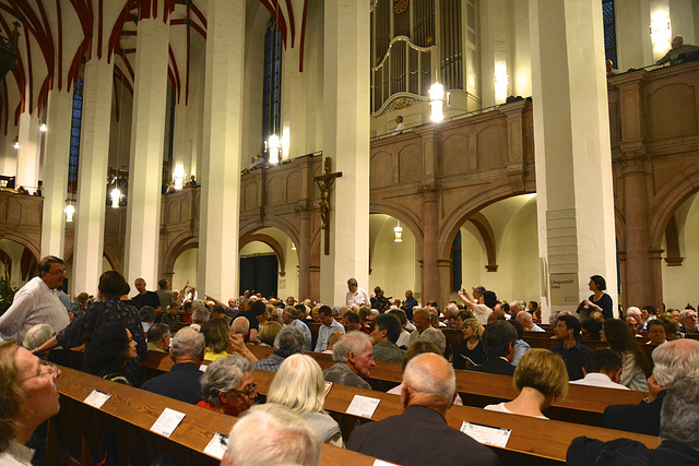 Leipzig 2013 – In the Thomaskirche before a performance of the Johannes Passion