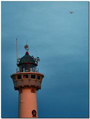 "Drohne, Leuchtturm ""Van Speyk"""