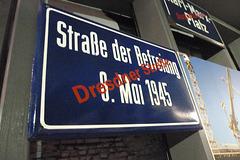 Leipzig 2013 – Stadtgeschichtliches Museum – Renamed street after the Wende