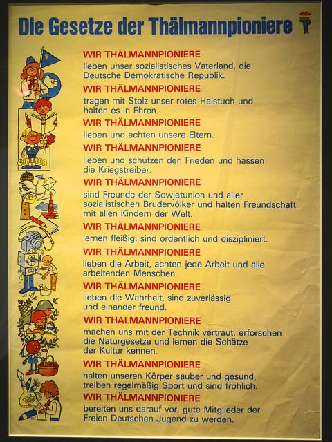 Leipzig 2013 – Stadtgeschichtliches Museum – The laws for the Thälmann pioneers