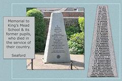 King's Mead School Memorial - Seaford - East Sussex - 13.5.2011