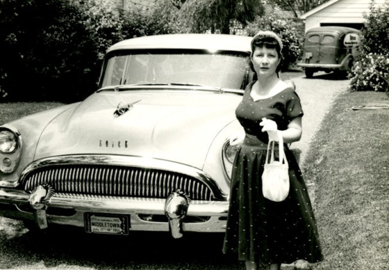 Woman with Purse and Buick, Middletown, Pa., 1955