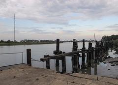 Well dang if it isn't Louisiana's famous Mermentau River this hot evening.