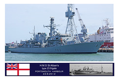HMS St Albans at Portsmouth on 22.8.2012 from bow