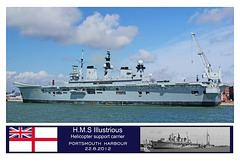 HMS Illustrious at Portsmouth on 22.8.2012