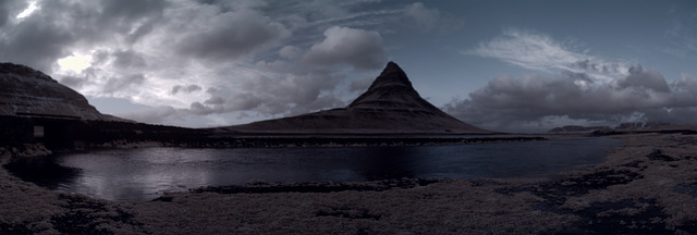 Kirkjufell Panorama (Red-Blue Swapped)