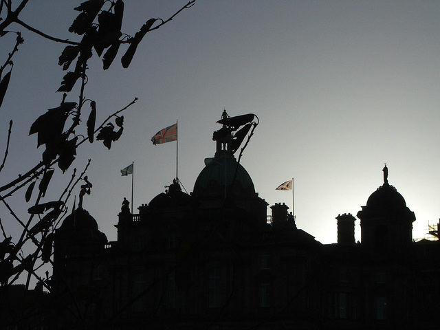 Edinburgh in silhouette