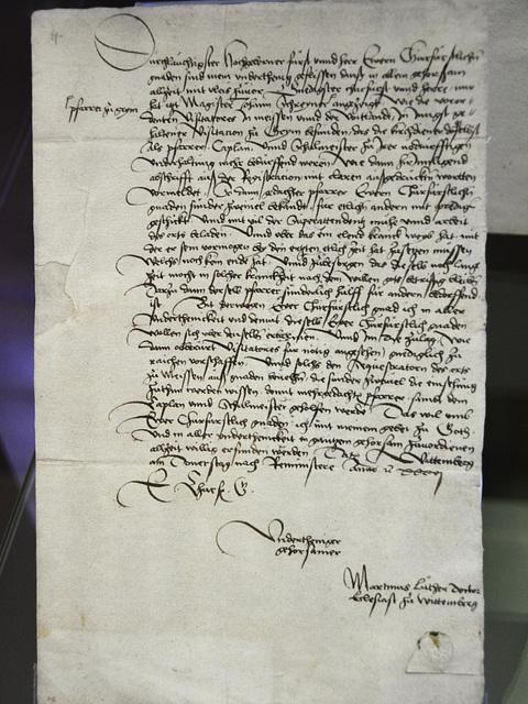 Leipzig 2013 – Stadtgeschichtliches Museum – Signed by Marten Luther