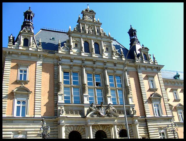 Criminal courts-building of Hamburg (Germany), built 1879-82