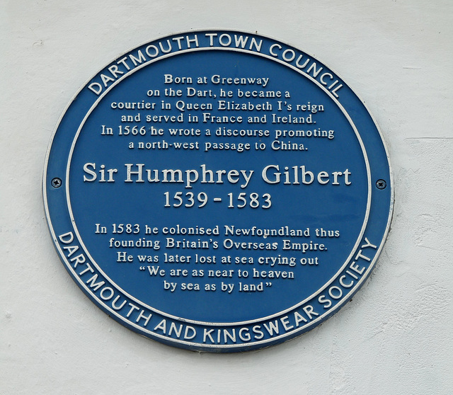 Sir Humphrey Gilbert Blue Plaque