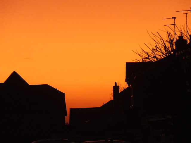 Sunset last night - NO filters