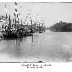 Mahmudieh Canal Alexandria c1913