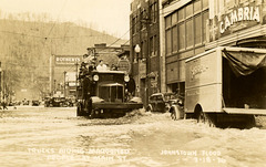 Trucks Aiding Marooned People at Main Street, Johnstown, Pa., March 18, 1936