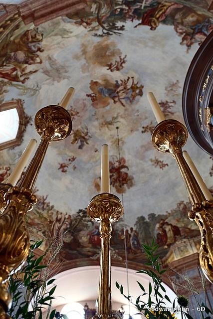 Ceiling Detail in Haydn's Church in Eisenstadt