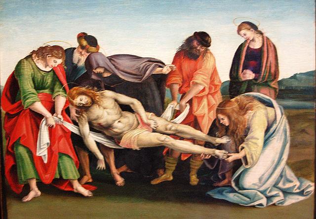 Jesuo post la demeto de la kruco (Jesus nach der Kreuzabnahme)