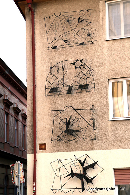Wrought Iron Decoration on a house opposite the  Franciscan Monastery
