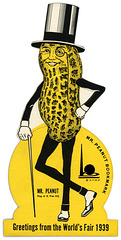 Mr. Peanut Bookmark: Greetings from the World's Fair, 1939