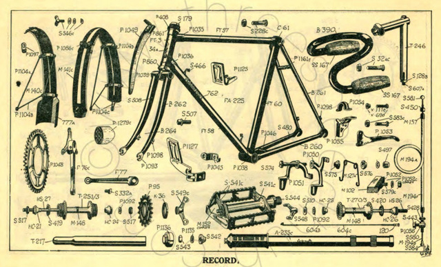 ipernity: Raleigh Record parts diagram 1935 - by Peter Kohler