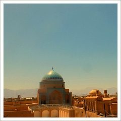 Roofs of Yazd.