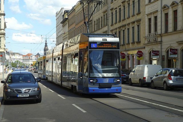 Leipzig 2013 – Tram 1101 on the Jahnallee