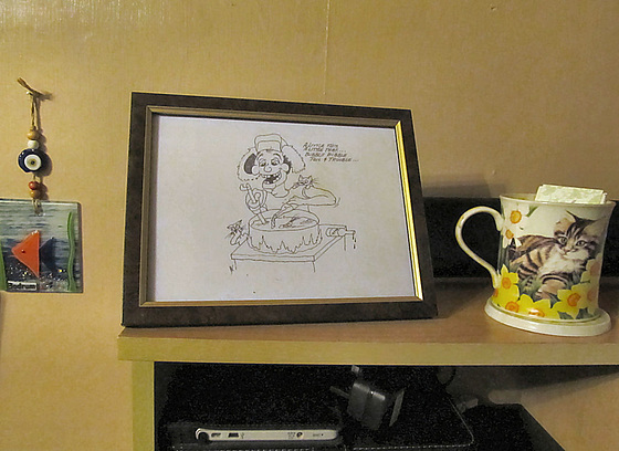 Cartoon framed