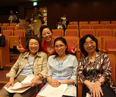 2013.10.13Mi partoprenis al la 100a Japana Esperanto Kongreso. In Japan the 100th Esperant convention.With Japan and Indonesia Esperantist before concert.Do you know who they are?