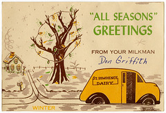 All Seasons Greetings from Your Milkman, St. Lawrence Dairy, Reading, Pa.