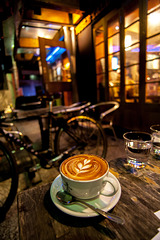 Cappuccino at night