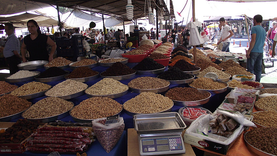 Nuts on sale in the market