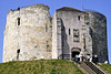 """York castle (""""Clifford's Tower"""")."""