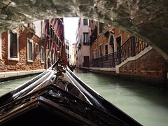 gondola under the bridge