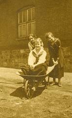 Three Women and a Wheelbarrow
